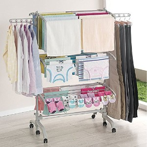 Wishome 折りたたみ式洗濯物干し Foldable drying Rack Clotheslines (海外直送品)