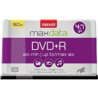 DVD+R Discs, 4.7GB, 16x, Spindle, Silver, 50/Pack (並行輸入品)