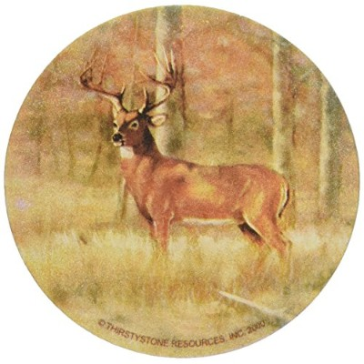 Thirstystone TS61R Natural Sandstone Coaster Set Whitetail Deer