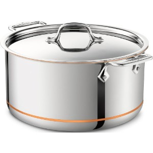 All-Clad 6508 SS Copper Core 5-Ply Bonded Dishwasher SafeStockpot / Cookware, 8-Quart, Silver by...