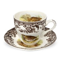 Spode Woodland Quail, Pheasant, Snipe and Rabbit Tea Cup and Saucer by Spode