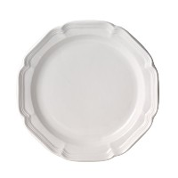 Mikasa French Country Dinner Plate, 10.75, White by Mikasa