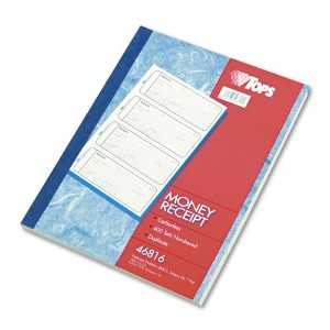 Money and Rent Receipt Books, 2-3/4 x 7 1/8, Two-Part Carbonless, 400 Sets/Book (並行輸入品)