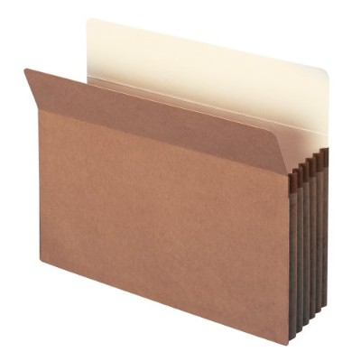 5 1/4 Inch Expansion File Pocket, Straight Tab, Letter, Manila/Redrope, 50/Box (並行輸入品)