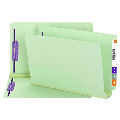 Three Inch Expansion Folder, Two Fasteners, End Tab, Legal, Gray Green, 25/Box (並行輸入品)