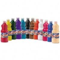 Ready-to-Use Tempera Paint, 12 Assorted Colors, 16 oz, 12/Pack (並行輸入品)