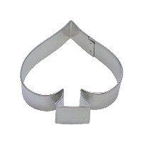 R&M Spade 3.75 Cookie Cutter in Durable, Economical, Tinplated Steel by CybrTrayd