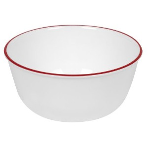 Corelle Livingware 28-Ounce Super Soup/Cereal Bowl, Red Band by CORELLE