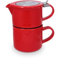 FORLIFE Tea for One with Infuser 14 ounces, Red by FORLIFE