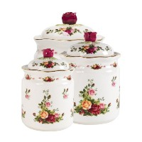 Royal Albert Old Country Roses Canisters, Set of 3 by Royal Albert