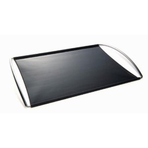 Mastrad Silicone 14-by-12-Inch Baking Sheet, Black by Orka