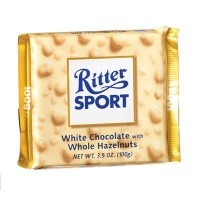 RITTER SPORT: White Chocolate w/Whole Hazelnuts Bar: 10 Count by Ritter Sport [並行輸入品]