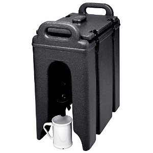 Cambro 250LCD110 Black 2.5 Gal. Beverage Camtainer by Cambro