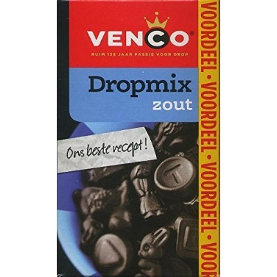 Venco Dropmix Zacht Zout (Soft Salt Mix Licorice Box) 2 Box 17/3oz 490gr by Venco [並行輸入品]
