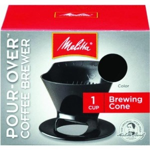 Melitta Ready Set Joe Single Cup Coffee Brewer black by Melitta