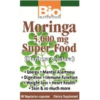 海外直送品Bio Nutrition Inc Moringa Super Food, 90 vcaps 5000 mg(Pack of 2)