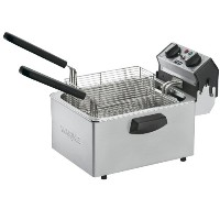Waring Commercial WDF75RC 120-volt Countertop Compact Electric Deep Fryer, 8.5-Pound by Waring