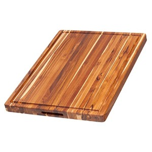 Teak Cutting Board - Rectangle Board With Hand Grip And Juice Canal (24 x 18 x 1.5 in.) - By...