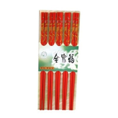 10 (5 Pairs) Chopsticks w. Dragon Painting by Asian Home