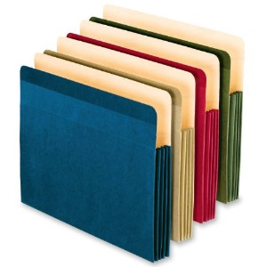 Recycled Colored File Pocket, Letter, Assorted, 4/Pack (並行輸入品)