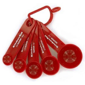 KitchenAid Measuring Spoons, Set of 5, Red by KitchenAid