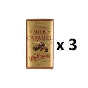 ウィッタカー Chocolate Block Block Creamy Milk Caramel 250g 3EA [並行輸入品]