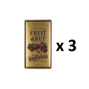 ウィッタカー Chocolate Block Block Fruit & Nut 33% Cocoa 250g 3EA [並行輸入品]