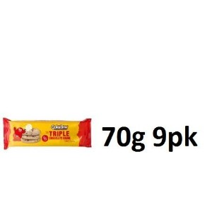 Cookie Time Cookies Triple Chocolate 70g 9pk [並行輸入品]