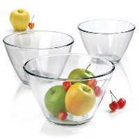 Anchor Hocking 3-Piece Contemporary Serving Bowl Set by Anchor Hocking