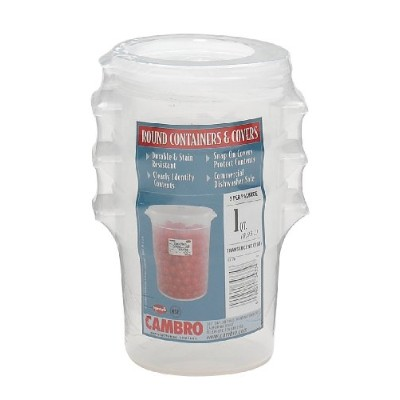Cambro RFS1PPSW3190 1-Quart Round Food-Storage Container with Lid, Set of 3 by Cambro [並行輸入品]