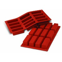 Silikomart SF026/C Silicone Classic Collection Mold Shapes, Rectangle Cake by Silikomart