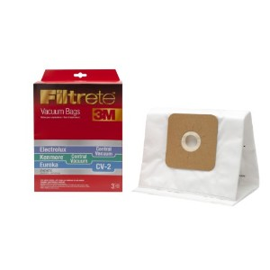 3M Filtrete Kenmore Central Vacuum / Eureka CV-2 Synthetic Vacuum Bag, 3 Pack by Filtrete