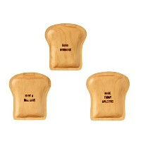 PAN MAISON WOOD BREAD TRAY パンメゾン ウッドブレッドトレイ《3枚セット》 (GOOD MORNING×MAKE TODAY AWESOME×HAVE A NICE DAY...