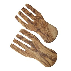 自然med – Olive Wood Salad Hands / Spaghetti Hands