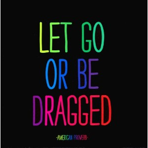 Magnet Let Go Or Be Dragged- American Proverb Quote by Quotable Cards