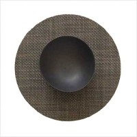 """Chilewich Basketweave Table Mat Round 15"""", Oyster (One Piece) by Chilewich [並行輸入品]"""