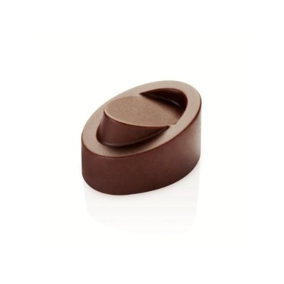 Chocolate Mold Skewed Oval 32x23mm x 19mm High, 21 Cavities by Pavoni