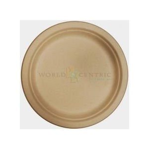 World Centric's Biodegradable and Compostable Wheat Straw 9 Plates by World Centric