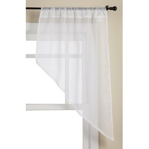 Stylemaster Elegance 56 by 38-Inch Sheer Voile Swag Pair, White by Style Master [並行輸入品]