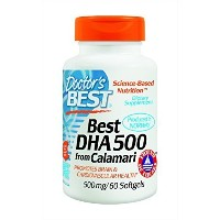 Doctor's Best Best DHA 500 from Calamari, 500 mg, 60 Softgels by Doctor's Best [並行輸入品]