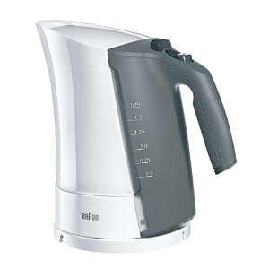 Braun WK300 1.6-Liter Electric Cordless Water Tea Kettle, 220-Volts, Grey/White (Not for use in USA...