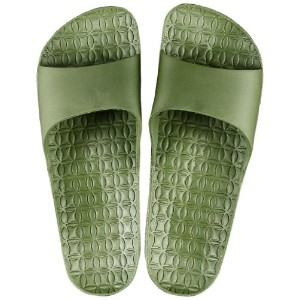 FOOTLIFE home sandals ホームサンダル M(22.5-24.5cm) moss green F3888 MGR-M