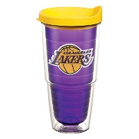 "Tervis 1059820 "" NBA La Lakers "" Tumbler withイエロー蓋、エンブレム、24オンス、アメジスト"