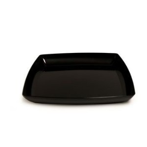 12 in. Black Square Plastic Tray Party Accessory by Maryland Plastics