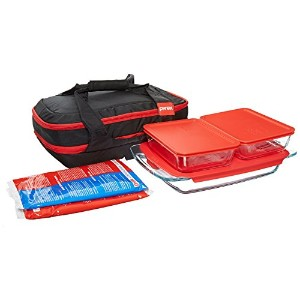 Pyrex Portables 9-Piece Double Decker Glass Bakeware and Food Storage Set by Pyrex
