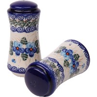 Polish Pottery Ceramika Boleslawiec, 1313/162, Salt and Pepper Milano, 4 3/4 by 2 1/4 Inches in...