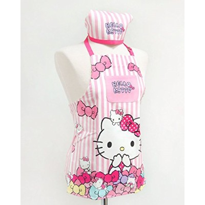 HELLO KITTYハローキティ子供用エプロン三角巾セット(海外直送品)