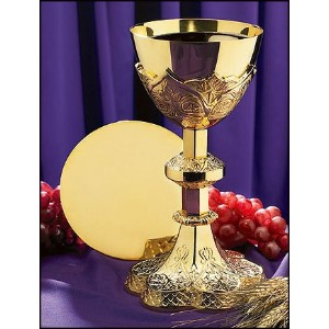 Vine Embossed Chalice and Paten Set by AutoM