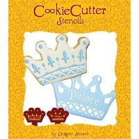 Prince Crown Cookie Stencil Set (no cutter) by Designer Stencils by Designer Stencils