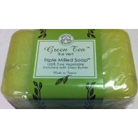 Green Tea The Vert Triple Milled Soap 100% Pure Vegetable Enriched with Shea Butter by Bisous...